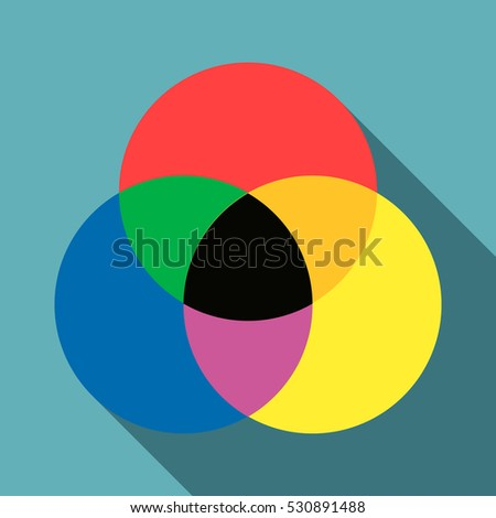 Color range spectrum circle round palette icon. Flat illustration of color range spectrum circle round palette vector icon for web isolated on baby blue background