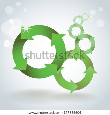 Color recycle symbols concept, background, template - illustration - stock vector
