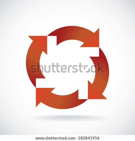 color recycle symbols concept background template stock vector