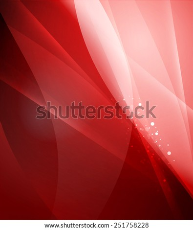 Color red and light, waves and lines. Abstract background - stock vector