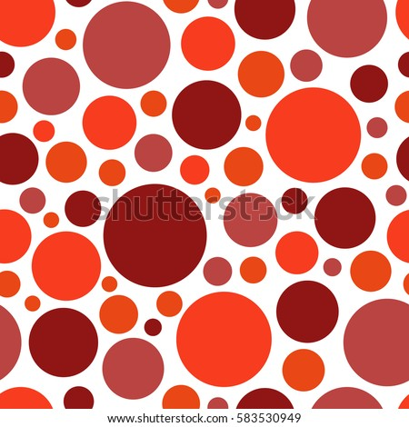 Color Red Circle Chaotic Pattern Seamless