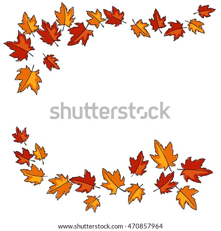 color red orange yellow maple leaves frames