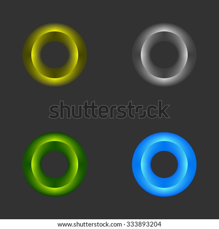 color rings on a black background