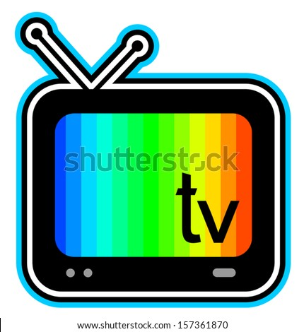 Color screen television - stock vector