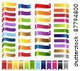 Color Set Web Ribbons, Isolated On White Background, Vector Illustration - stock vector