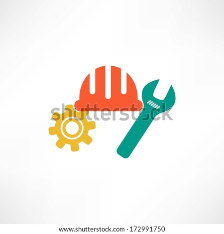 Color settings button icon - stock vector