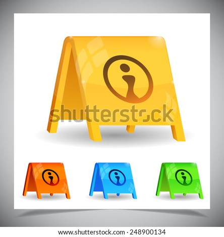 Color simple billboard for advertising. Vector illustration - stock vector