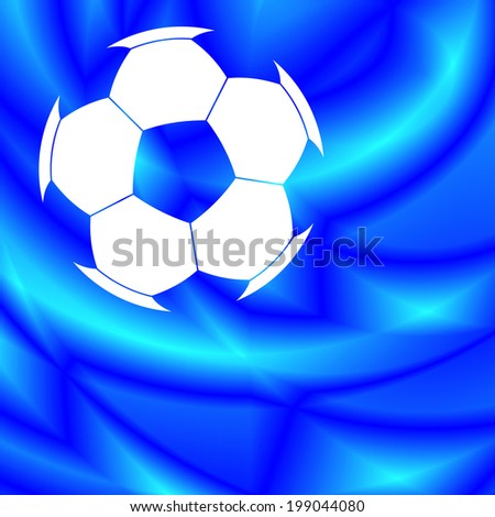 Color soccer ball on the abstract background