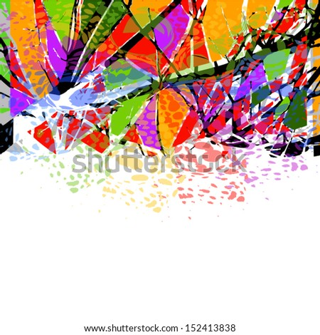 Color spots of color frame - stock vector