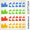 Color statisctic columns. Vector template - stock photo