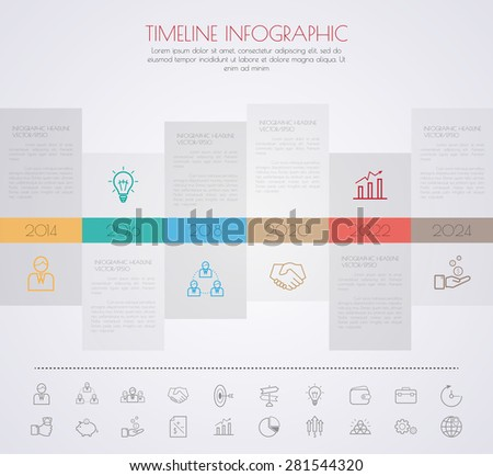 Timeline Infographic Vector Design Template Stock Vector 486582841