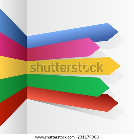 Color stripes arrows infographic vector template. - stock vector