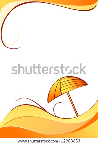 Color summer background - stock vector
