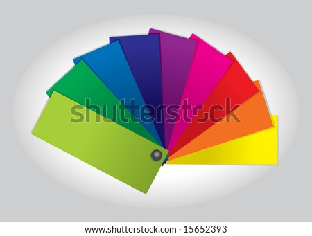 Color Swatch Book (vector). In the gallery also available XXL jpeg image made from this vector - stock vector