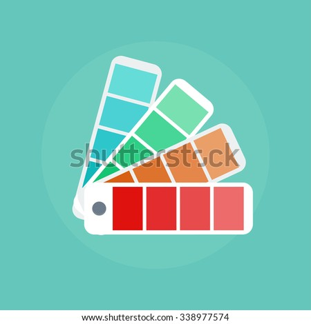 color swatch concept icons in flat style color palette guide color scale design - Pantone Color Swatch Book