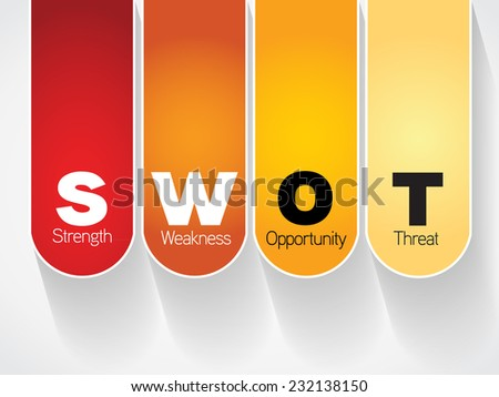 Color Swot Business Infographic presentation diagram, analysis strategy - stock vector
