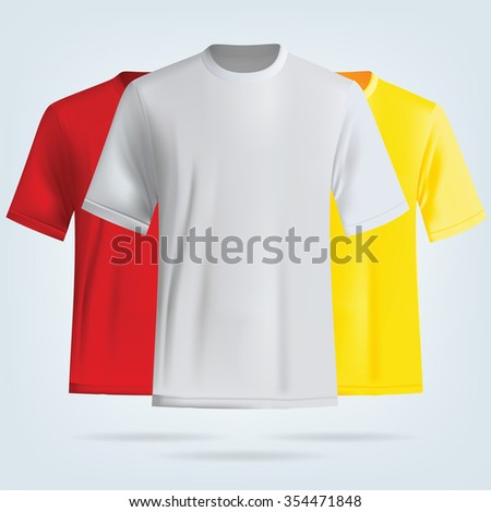 Color T-shirts template. Vector t-shirt design.  - stock vector