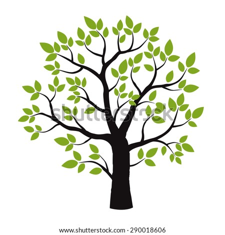 color tree vector illustration stock vector 290018606 shutterstock rh shutterstock com tree vector silhouette tree vector image