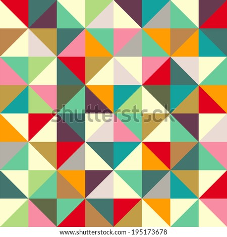 Color triangle seamless pattern