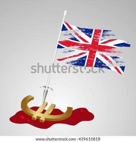 color united kingdom flag euro killing eps10 - stock vector