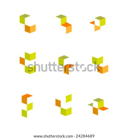 Color vector icon collection - stock vector