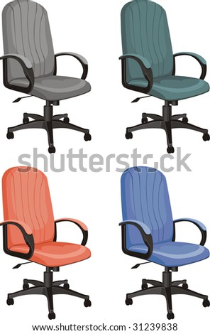 color vector office chair isolated on white background - stock vector