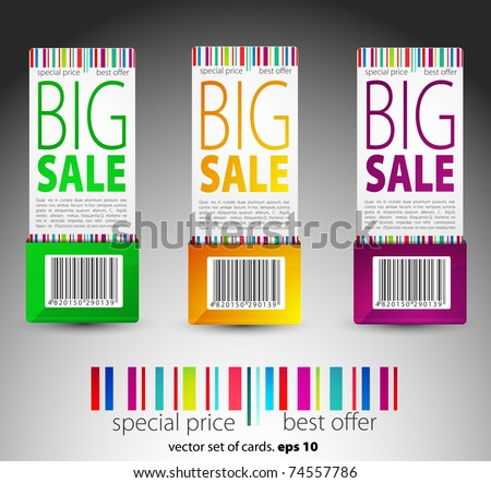 color vector sale tickets - stock vector