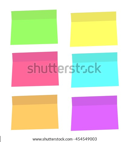 color vector stickers. put your text here