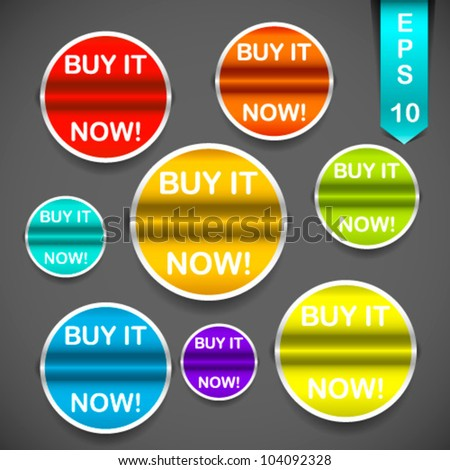 Color vector tags - stock vector