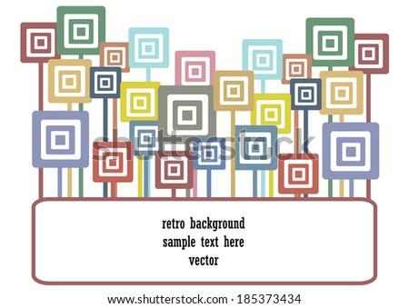 color vector wallpaper design with symmetrical circles - stock vector