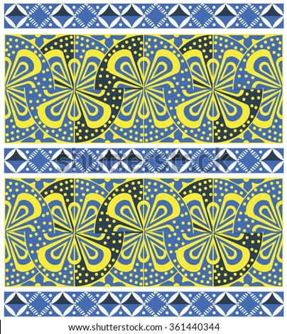 Color vintage ornamental pattern on a white background - stock vector