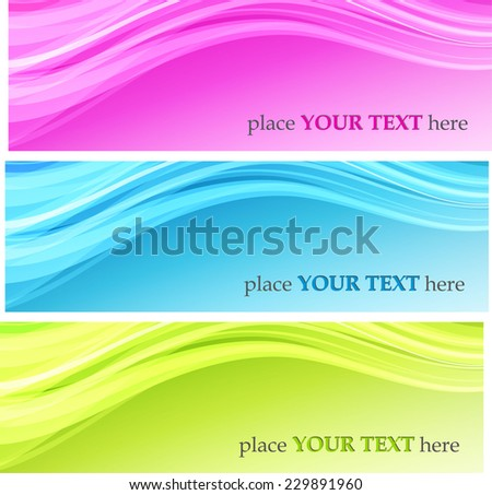 Color waves backgrounds - stock vector