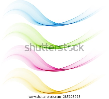 Color waves on white background