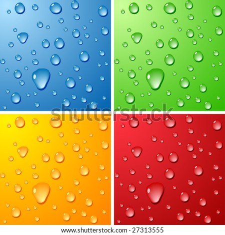 Color Wet surfaces. Vector illustration. - stock vector
