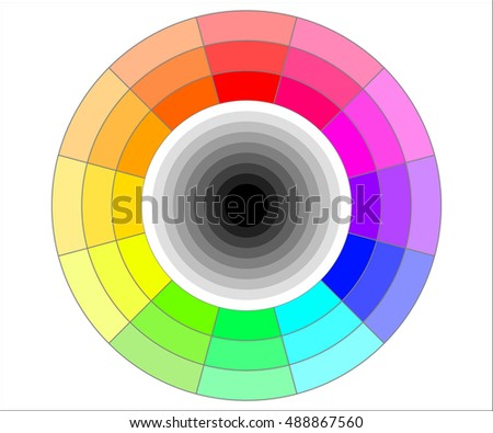Color wheel illustration