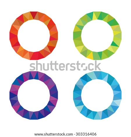 Color Wheel Red Blue Green Purple Logo Icon