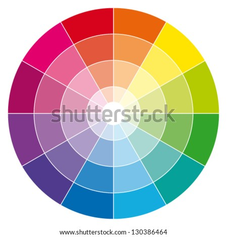 Color wheel. Vector illustration guide. - stock vector