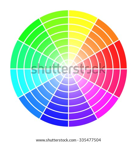 Color wheel vector template isolated on white background. - stock vector