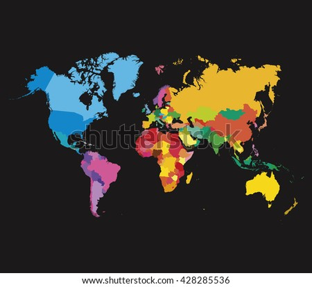 Color world map template vector flat stock vector hd royalty free color world map template vector flat map gumiabroncs Choice Image