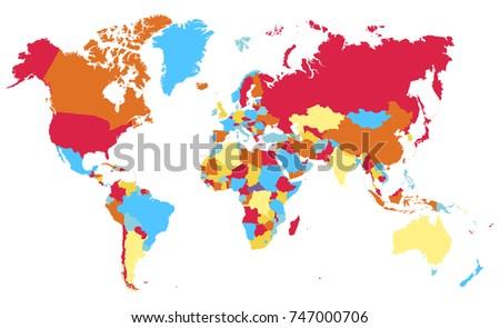 Color world map vector vector de stock747000706 shutterstock color world map vector gumiabroncs Images