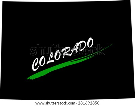 Colorado map vector in black and white background, Colorado map outlines in a new design - stock vector