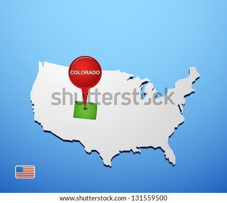 Colorado On Usa Map