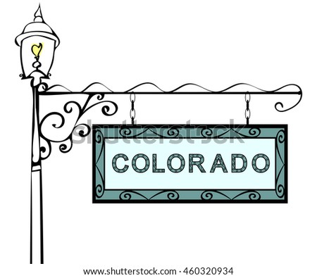 Colorado retro pointer lamppost.