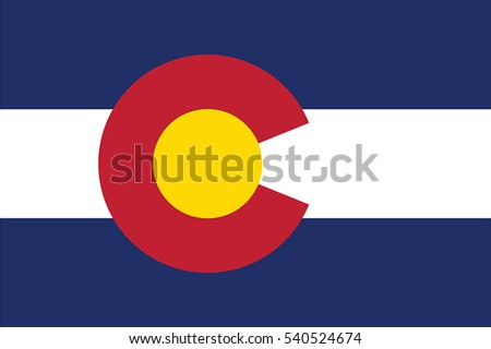 Colorado State Flag, USA. Vector Format