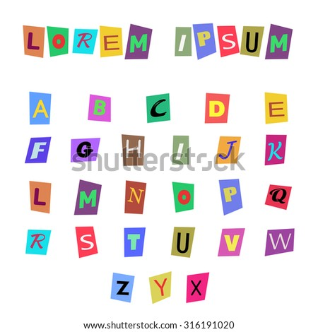 colored alphabet - stock vector