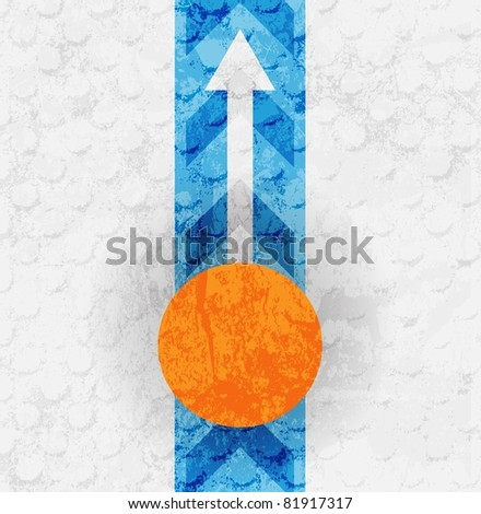 Colored arrow abstract vector background. For design - stock vector