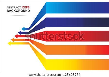 Colored arrows vector. EPS10 - stock vector