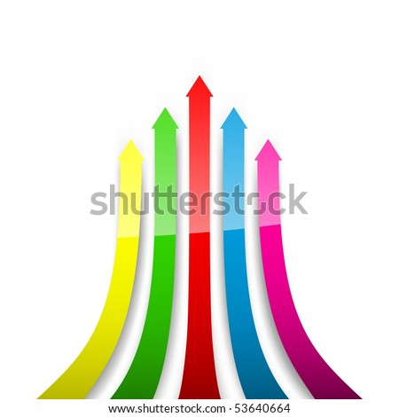 Colored arrows. Vector illustration