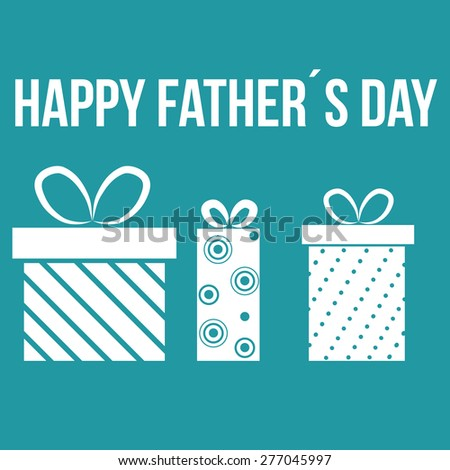 Colored background with text and elements for father's day. Vector illustration