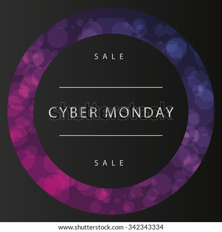 Colored background with text for cyber monday sales - stock vector